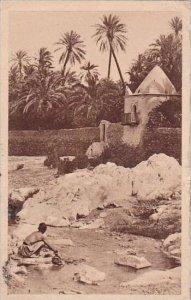 Algeria Algiers Washing Scene at Creek