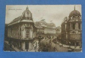 Vintage  Postcard Aldwych London  Postmarked 1923  (J1C)