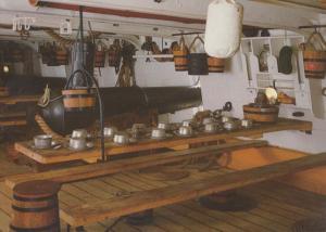 HMS Warrior Mess Table Food Meal Ship Interior Postcard