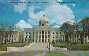 Alabama Montgomery State Capitol Building Greetings From The Cradle Of The Co...