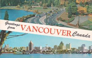 Canada British Columbia Vancouver Greetings From Vancouver Canada 1968