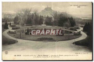 Old Postcard Le Puy The public garden Horseshoe view of the museum taken