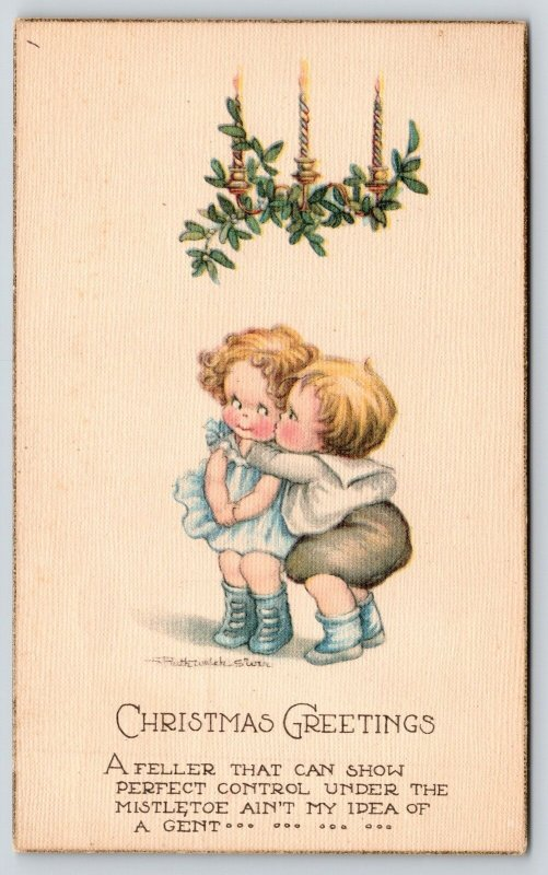 Ruth Welch Siver Christmas~Kids Under Mistletoe~Feller With Control No Gent~1921