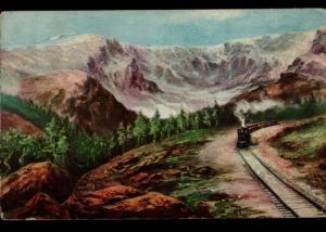 Manassa CO Continental Divide Railroad Williamson Haffner Burleigh Postcard B05