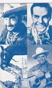Cowboy Arcade Card Lee Molasses White Johnny Downs Monte Hale & Gene Autry