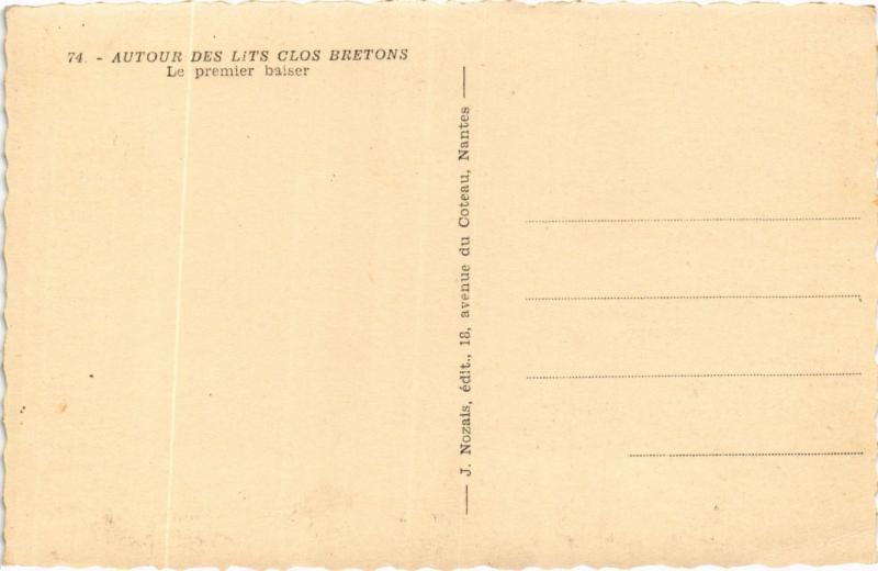CPA Autour des lits clos bretons FRANCE FOLKLORE (789536)