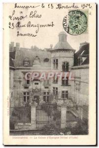 Old Postcard Thunder Bank Caisse d & # 39Epargne Hotel d & # 39Uzes