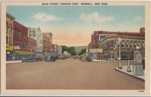 HORNELL NY - Main Street looking east 1940s era