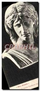 Postcard Old Pro Alesia Tete young Gallic Museum of Florence
