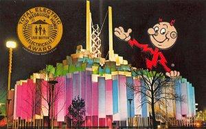 1964 New York World's Fair Tower of Light Reddy Kilowatt Postcard