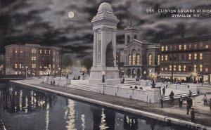 SYRACUSE, New York, PU-1916; Clinton Square At Night
