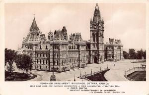 Canada Dominion Parliament Buildings Ottawa Postcard