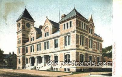 Manchester, NH USA,  Post Office Postcard, Postoffice Post Card Old Vintage A...