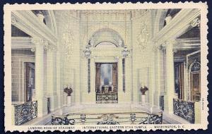 Eastern Star Temple Interior Washington DC unused c1937