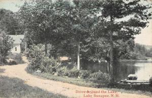 Lake Sunapee New Hampshire Drive around the Lake Scenic View Postcard JE228236