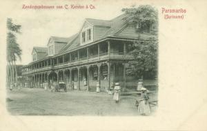 suriname, PARAMARIBO, Mission Buildings of C. Kersten & Co. (1899)