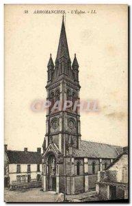 Old Postcard Arromanches The Church