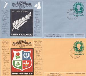 New Zealand Lions First Second Third Fourth Test Rugby 4x Auckland Cover s
