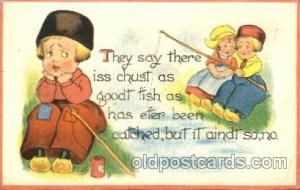 Artist Bernhardt Wall, Dutch Children Old Vintage Antique Postcard Post Card