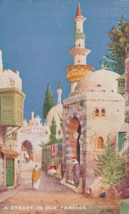 A Street In Old Tangier Tucks Charms Of The East Oilette Postcard