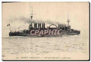 Old Postcard Boat War Ernest Renan