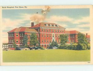 Linen OLD CARS AT HOSPITAL Fort Knox - Louisville Kentucky KY d5790