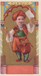 Trade Card (TC): Boy carrying Letter , 1880-90s ; TURQUIE (Turkey)