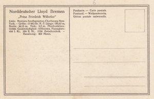 Norddeutscher Lloyd Bremen Ocean Liner Prinz Friedrich Wilhelm , 00-10s