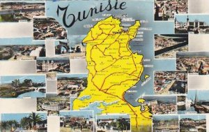 Tunisia Multi View with Map 1964