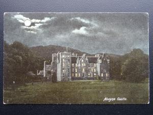 Scotland Aberdeenshire ABOYNE CASTLE by Moonlight c1906 Old Postcard by Hartmann