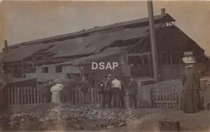 C11/ Canton Ohio Postcard Real Photo RPPC c1910 Steel Mill? Factory People c1910
