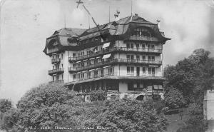 Chexbres Vaud Switzerland~Le Grand Hotel ~Lake Geneva~Alps~My Balcony~RPPC 1916