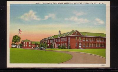 North Carolina postcard Elzabeth City Teachers College