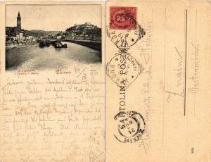 CPA VERONA S. Anastasia e Castello S.Pietro. ITALY (448413)