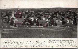 Stockton Illinois~Bird's Eye From Reservoir Mound~Homes~Barns~Churches~1907