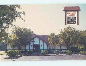 Unused Pre-1980 BOHEMIAN GARDEN RESTAURANT Greenacres Florida FL hs4523