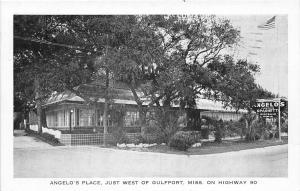 Angelo's Place Restaurant Highway 90 Gulfport Mississippi postcard