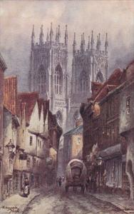 Tom Dudley Water Colour, Town of York, Yorkshire, United Kingdom, 1900-10s