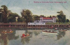Indiana Indianapolis Boating At Riverside Park