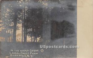 Maple Grove Glen Wild NY Unused