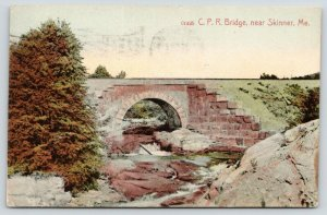 Skinner-Ghost Town-Costigan ME~Canadian Pacific Railway Bridge~Moose River~1909