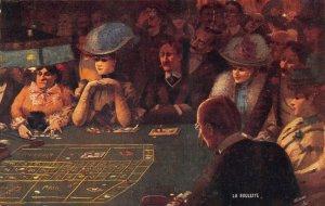 La Roulette A Gambling Scene Raphael Tuck Seria 991 Postcard