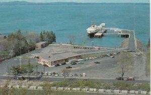 BAR HARBOR, Maine, 1950-60s; Yarmouth-Bar Harbor Ferry Bluenose in dock