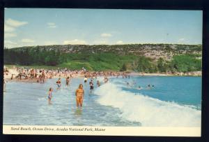 Bar Harbor, Maine/ME Postcard, Sand Beach, Ocean Drive, Arcadia National Park