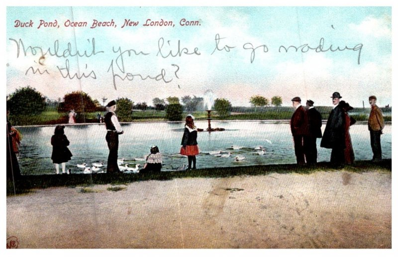 Connecticut  New London ,  Duck Pond , Ocean Beach