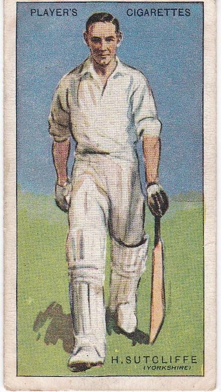 Cigarette Cards Player's Cricketers 1930 No 40 - H Sutcliffe