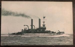 Mint USA Real Picture Postcard USS Iowa BattleShip BB4