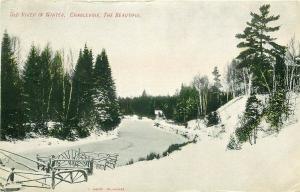 MI, Charlevoix, Michigan, Old River In Winter, Postmark 1907