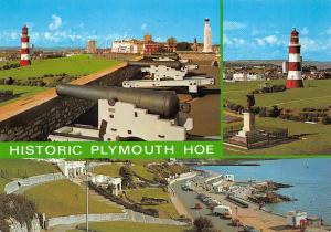 England Historic Plymouth Hoe, Cannon Guns, Lighthouse, Different Aspects