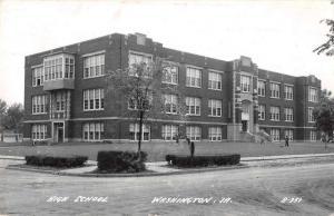 Washington Iowa High School Real Photo Antique Postcard J60061